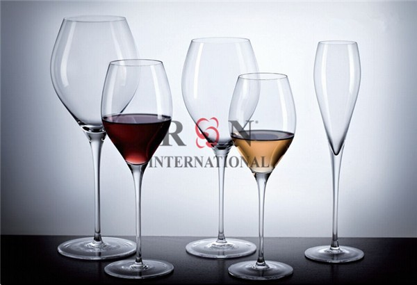 5 Wine Glasses Cystal Glasses Glassware Set For Restaurant/Hotel/Bar Used