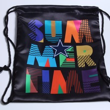 2018 New Design Hot Sales Satin Colorful Printed Customized Drawstring Bag From Yiwu China