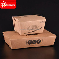 Disposable fancy custom logo printed take away kebab container / box
