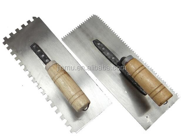 wooden handle plastering trowel steel cement trowel