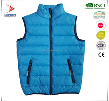 kids winter duck down padded blue vest