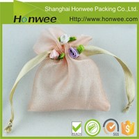 nylon material drawstring mesh bag