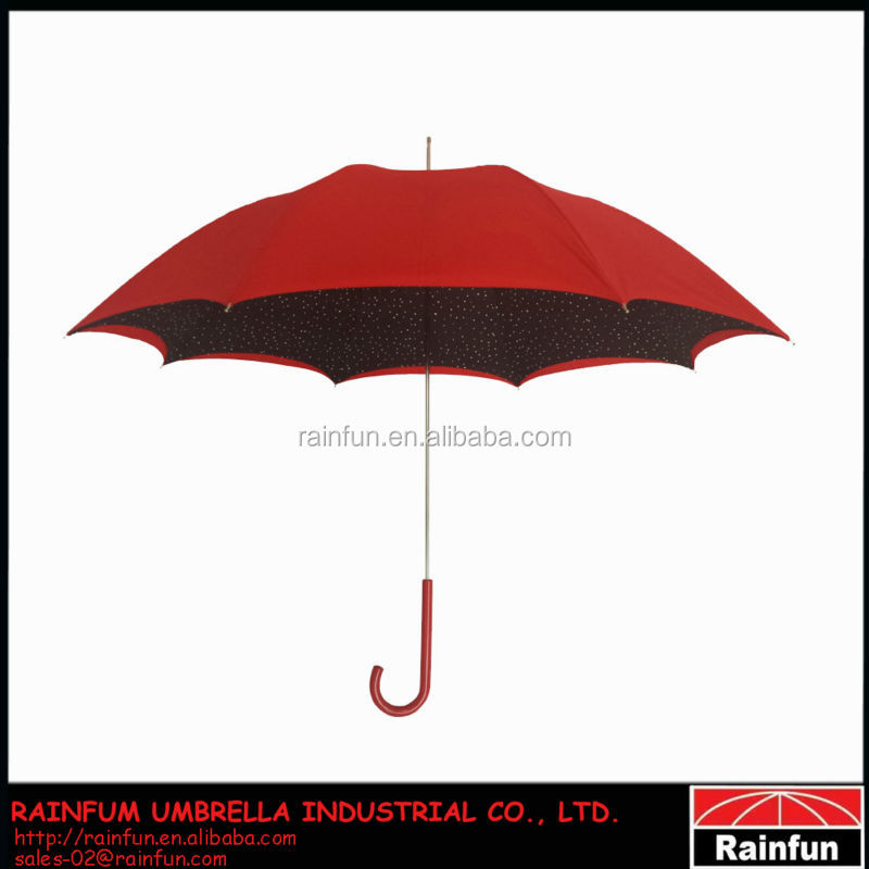 Lady fashion straight umbrella with double canopies