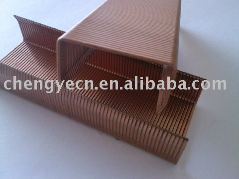 copper coating carton packing staples (16ga)