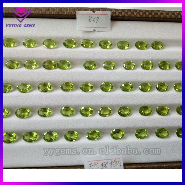 Top quality China gemstone factory wholesale oval shaped loose natural peridot