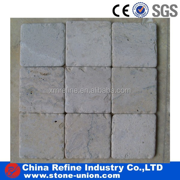 white travertine knock edge stone pavers