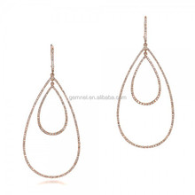 Thailand jewelry manufacturer gold earring hoop