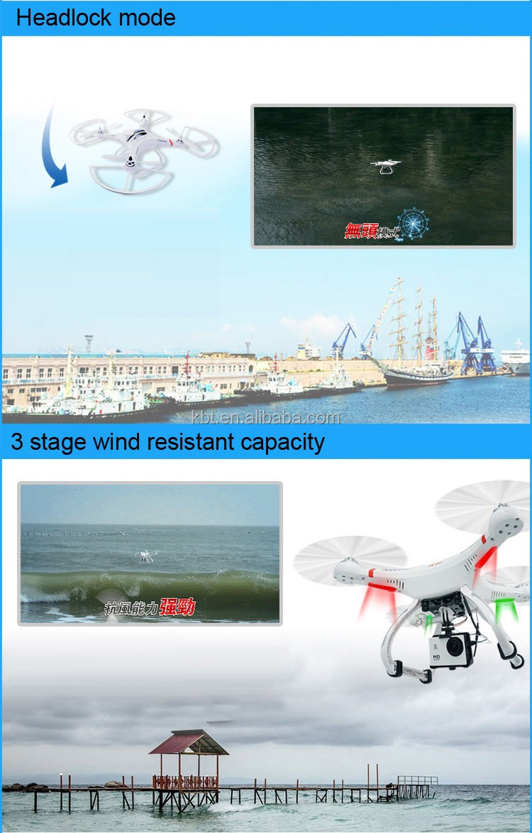 Shenzhen professional Drone supplier/2.4Ghz RC camera Drone with gps / headless mode drone with HD camera