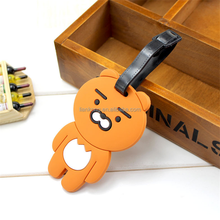 Wholesale Personalized Fancy Airplane Shape Blank Luggage Tag pvc cartoon bear animal luggage tag