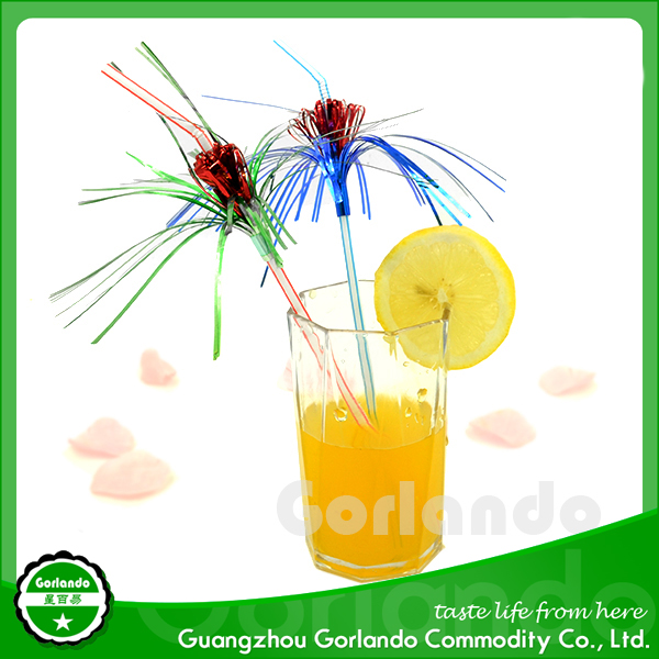 New style popular plastic novelty drinking ornament straw
