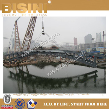 To Install the Integrally Completed Inland River Landscape Bridge,BISINI New Design for Steel Structure Bridge(BF08-Y10048)