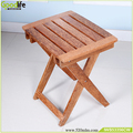 High quality teak wood folding stool hot sale at USA market