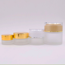 10ml frosted cosmestic glass container 10g skin care cream jar packaging