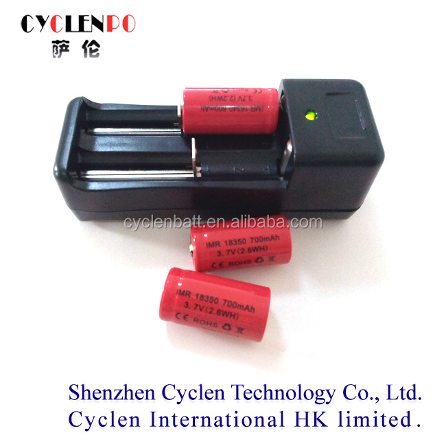 Cyclenpo li 18350 18500 18650 battery vv mod /imr 18500 battery /flat top li on 18500 battery