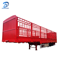 High Quality Tri Axle Animal Transport
