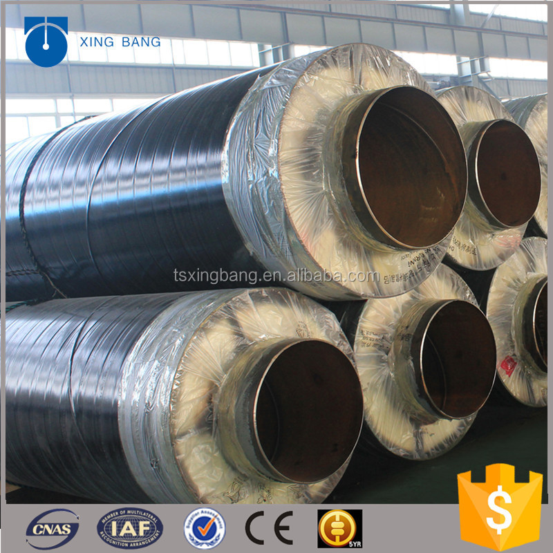 high quality calcium silicate insulation pipe with api5l carrier pipe and aluminum foil