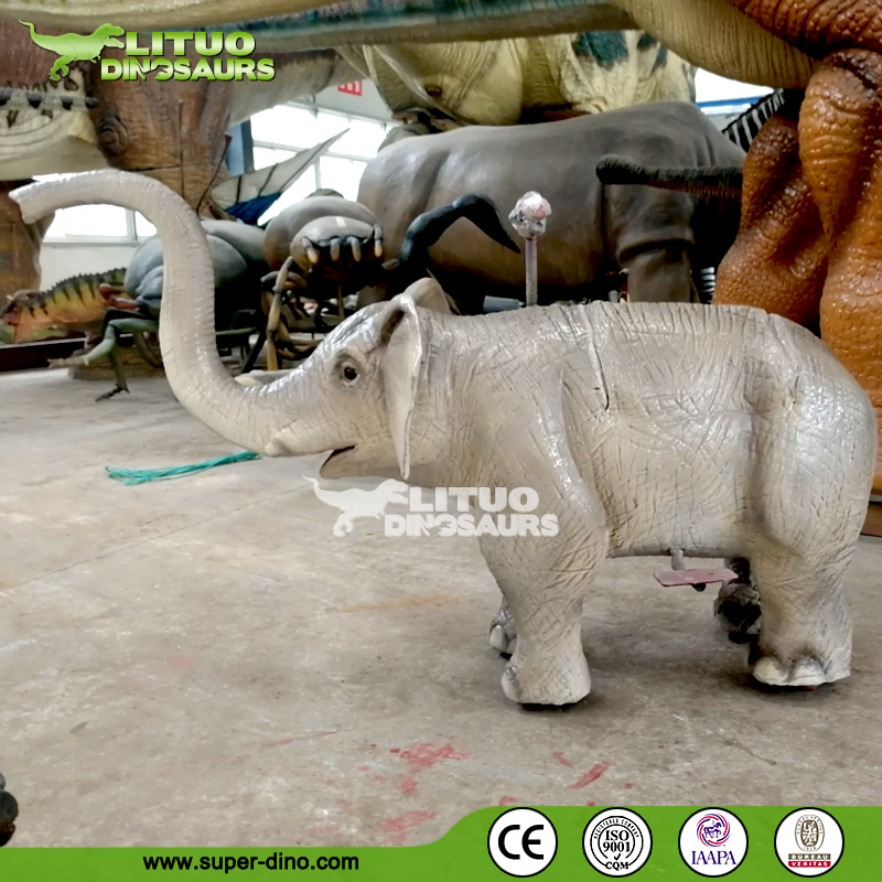 Kid Scooter Animatronic Animal of Elephant Ride