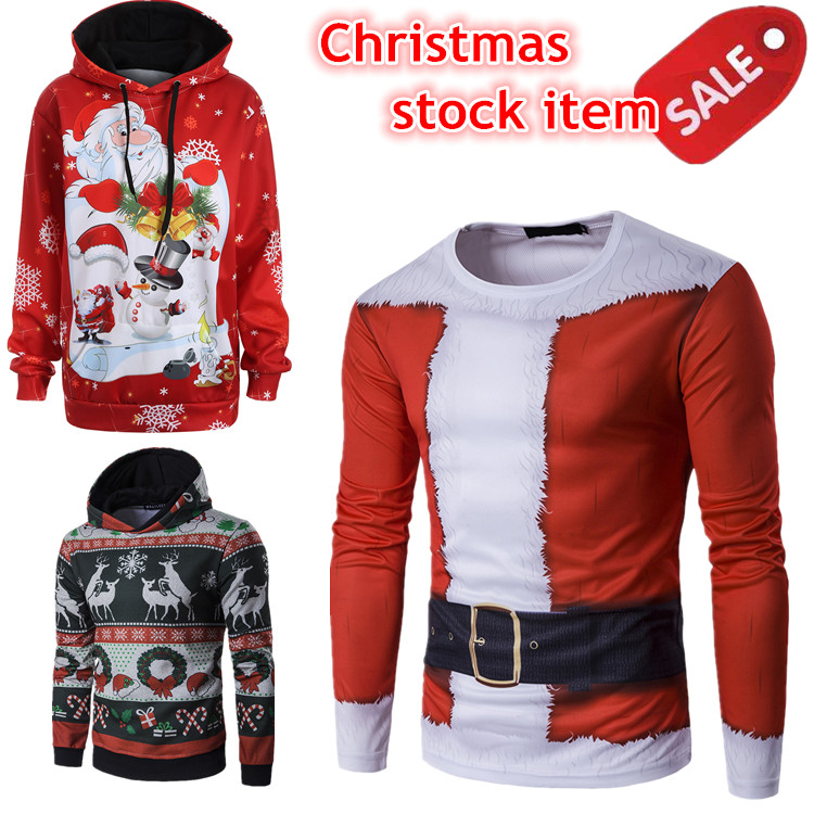 Fast Delivery Full Sublimation Christmas Sweater 3d Hoodies Christmas