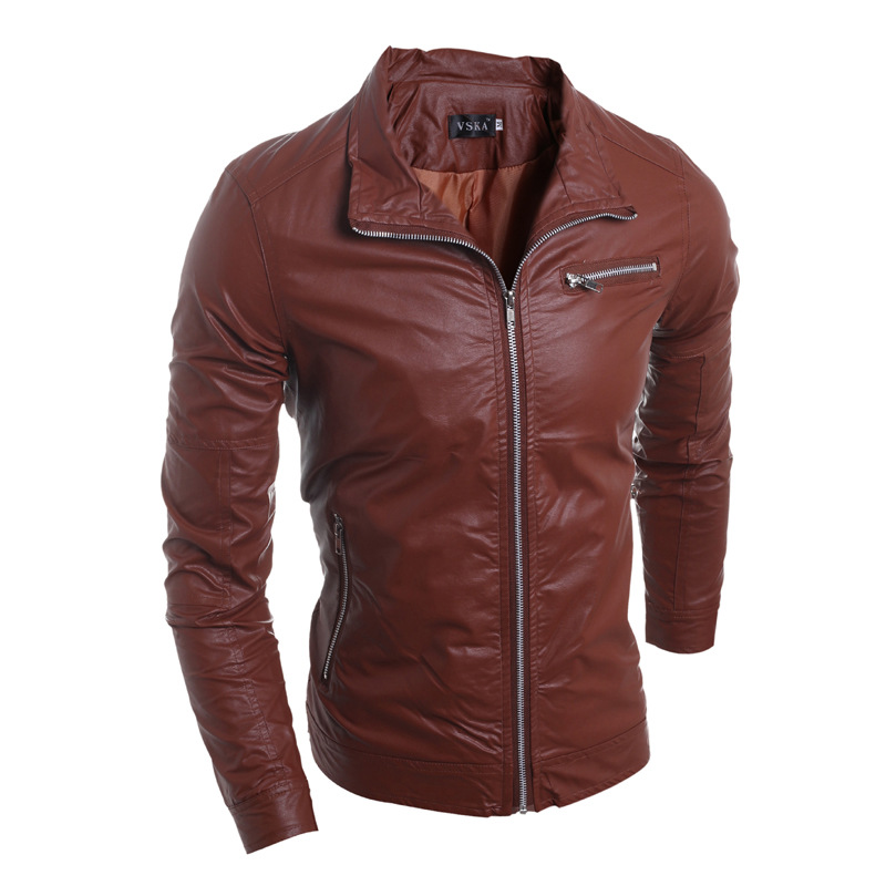 Men's Bolero Dubai Winter Leather Jackets By Sewing Macking Machine