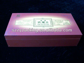 Cheap Decorate Tea Box Wholesale In Shenzhen Certificated by FSC,BV,ISO