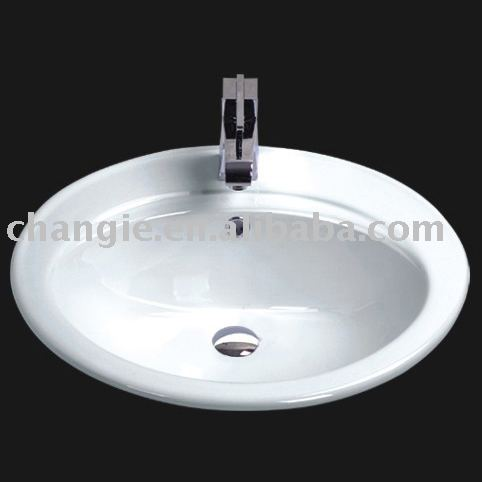 above counter sink,top mount sink,changie ceramic 1001