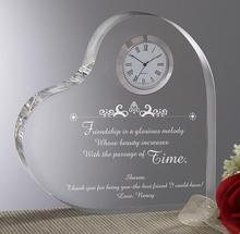 K9 material decoration crystal heart shape clock