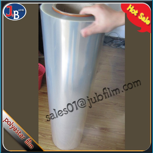China supplier 12 micron clear pet film for laminating pouch film