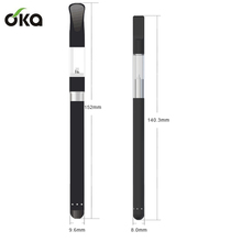0.5ML slim vaporizer pen pyrex glass 510 button less vaporizer pen