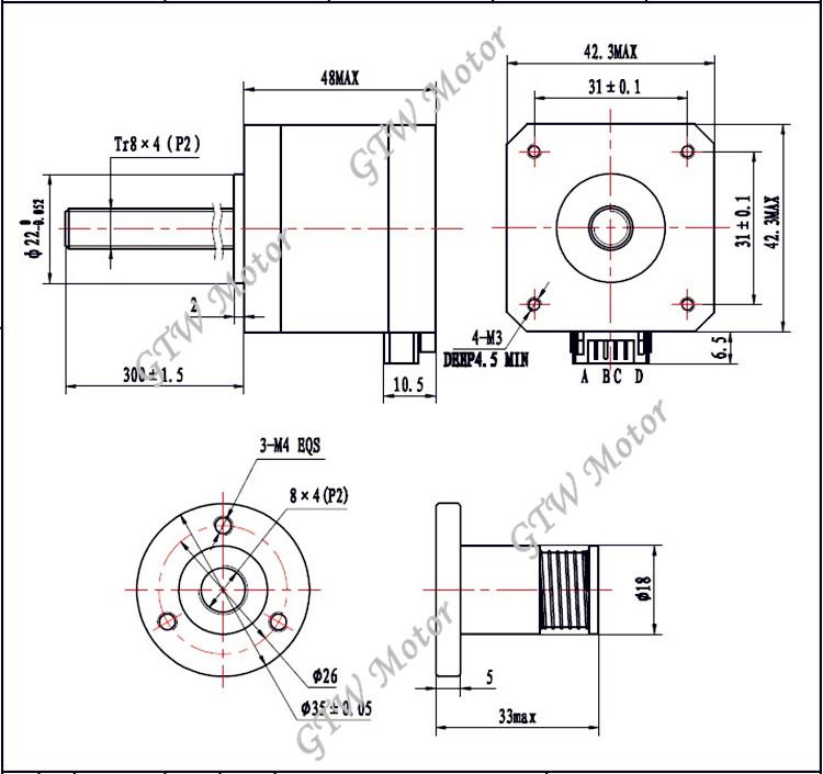 nema 17 linear stepping motor linear motor for 3d printer