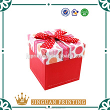 Custom logo printed luxury engagement paper gift box packaging box