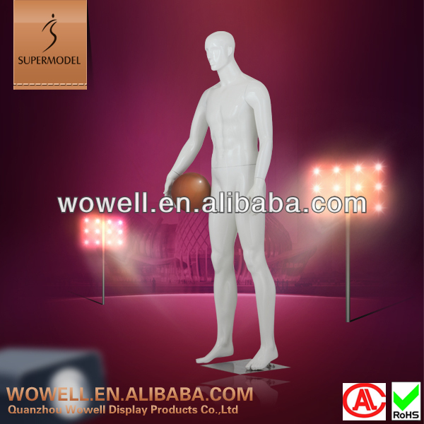 Sex male sports mannequin dummy in white color