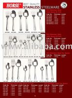 """HORSE"" BEST QUALITY STAINLESS STEEL TABLE SPOON & FORK"