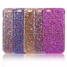 Sparking hard case skin cover for iPhone 5, Luxury Glittering case for iPhone SE