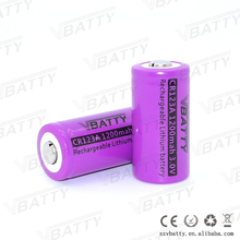 High quality Vbatty cell cr123a 1200mah 3v lithium ion button cell battery