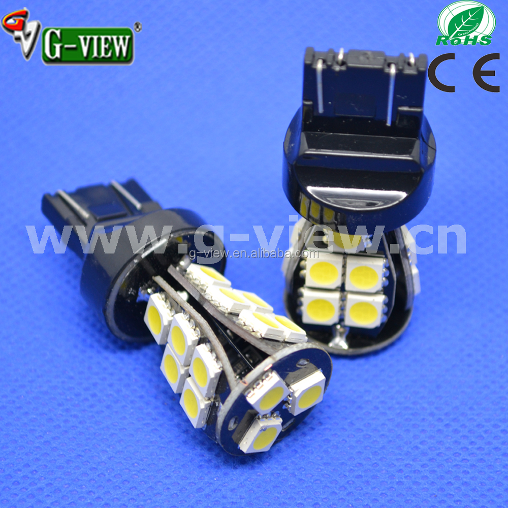 Led factory china 7443 canbus led bulb 18smd 5050 error-free led light auto