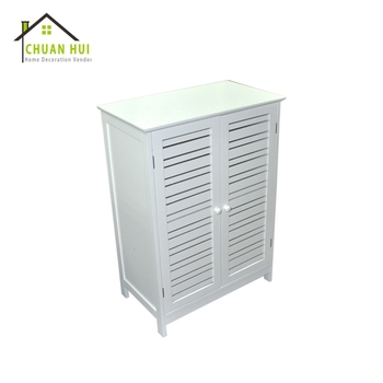 High quality bathroom white wooden storage cabinet