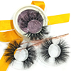 Can Make Own Private Label Eyelash Package Wholesale 3D Mink Eyelashes 25mm 3D EYELASHES