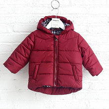 Factory direct children winter 100% cotton red jacket / coat
