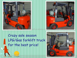3t capacity petrol/gas nissan engine forklift truck for sale