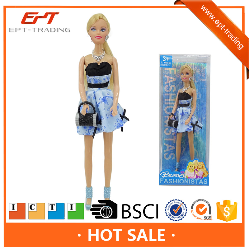 11.5 inch silicone fashion dress up toys and dolls