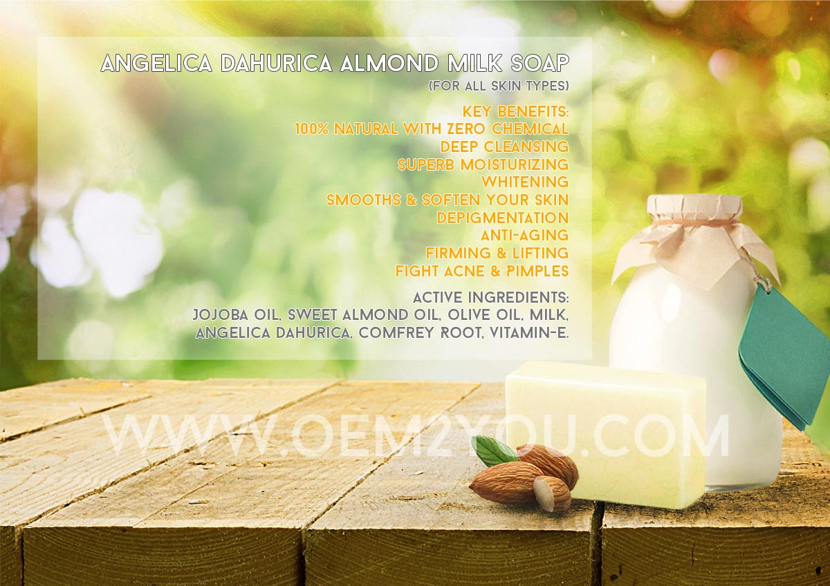 Angelica Dahurica Almond Milk Soap