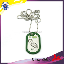 2016 Promotional cheap gold plated military dog tag , custom metal dog tag