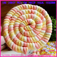 75g twist marshmallow candy, marshmallow poofy pop