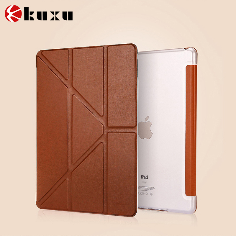 China manufacture 360 Rotating Stand Flip PU Skin Cover Case For Apple iPad Pro