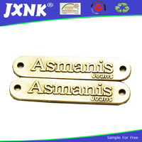 custom-made garment accessories lable metal 2 hole tags