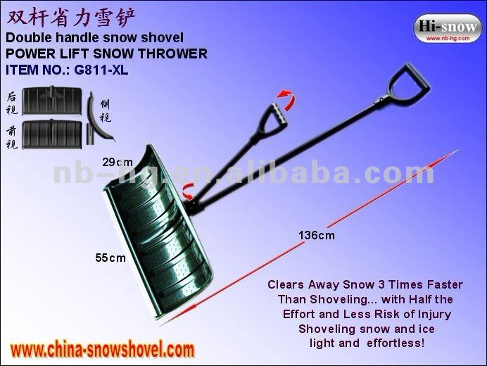 Double handle push snow shovel/tools to shovel the snow
