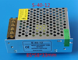 small size waterproof power supply for led constant voltage 12v led driver 3w