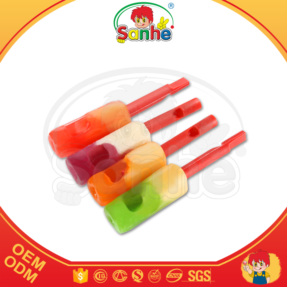 10g musical shaped whistle juice filled candy