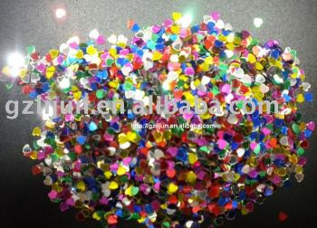 H1-033 Colorful heart nail art flower