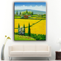 Contemporary handmade natural scenery oil painting picture with best price